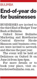 South-East Advertiser: End-of-[Budget]-Year Do for Businesses