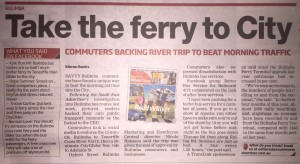 South-East Advertiser: Ferry & CityGlider from Oxford Street Bulimba to Brisbane CBD