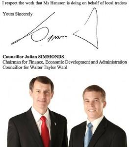 Cr Julian Simmonds, Chairman for Finance, Economic Development & Administration, Brisbane City Council