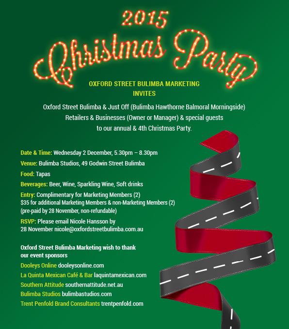 INVITATION: Oxford Street Bulimba Marketing's 4th & Annual
